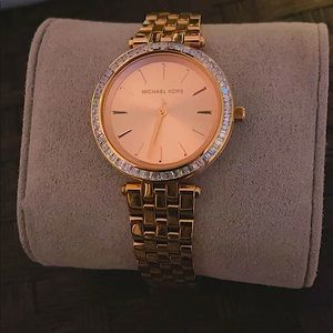 Michael Kors rose gold woman's watch